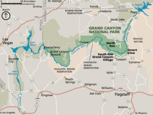 las vegas to hoover dam to grand canyon map Las Vegas To The Grand Canyon Things To See On Your Road Trip las vegas to hoover dam to grand canyon map