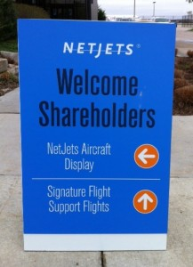 NetJets display