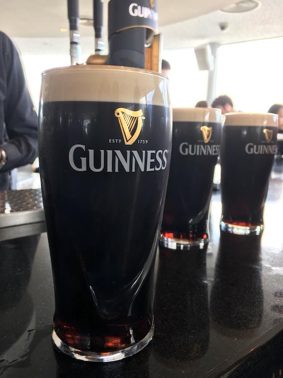 Beer at Gravity Bar, Guinness Storehouse Dublin