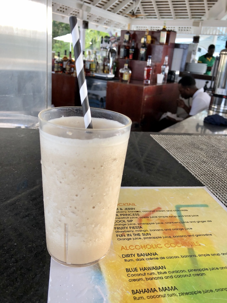 Jamaican dirty banana cocktail