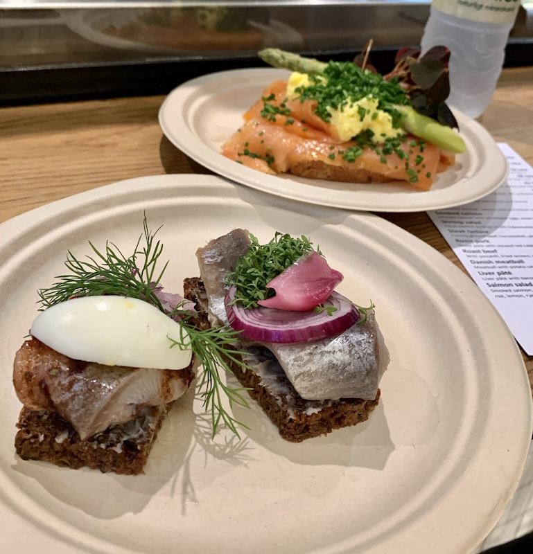 open faced sandwich in Copenhagen