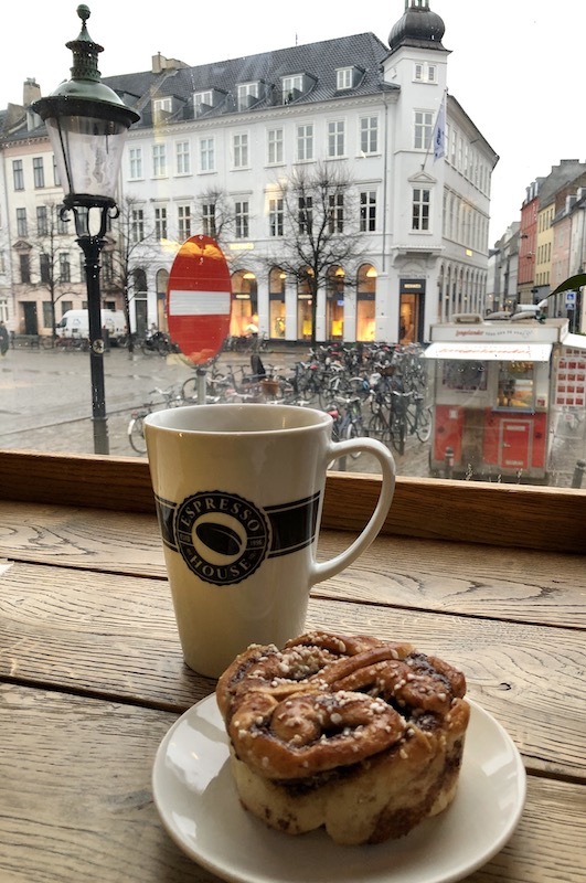 Pastry and Coffee in Copenhagen