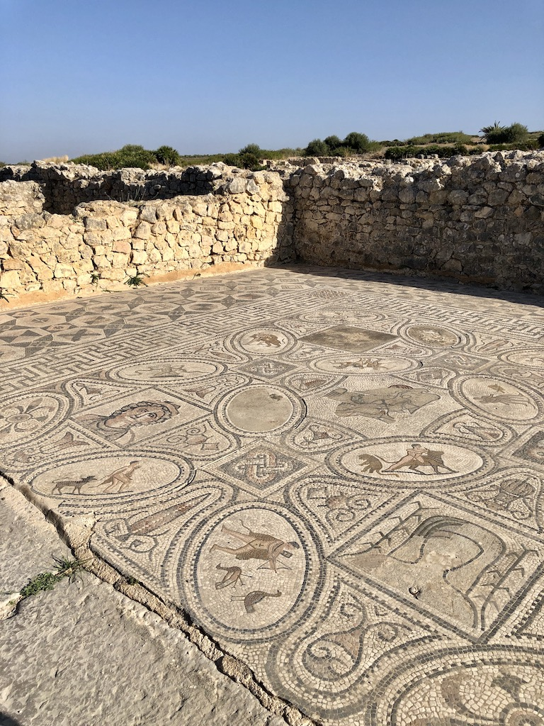 Mosaic in Volubilis Roman Ruins Morocco