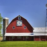 Barn quilt in rural America